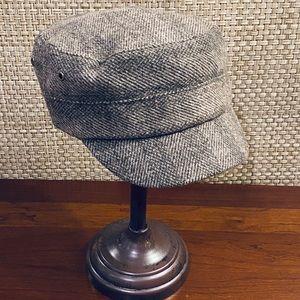 Khaki Herringbone Tweed Fiddler Hat D&Y OSFM